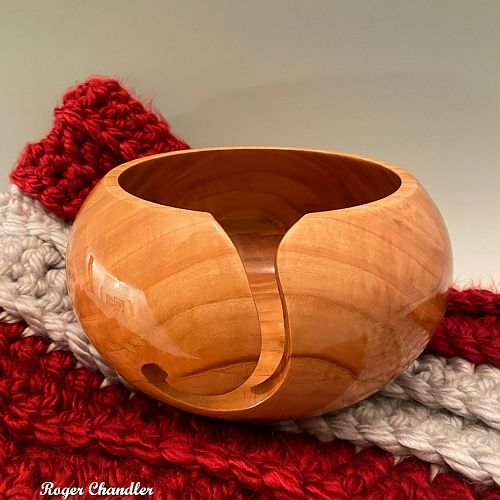 Yarn Bowl -Black Cherry