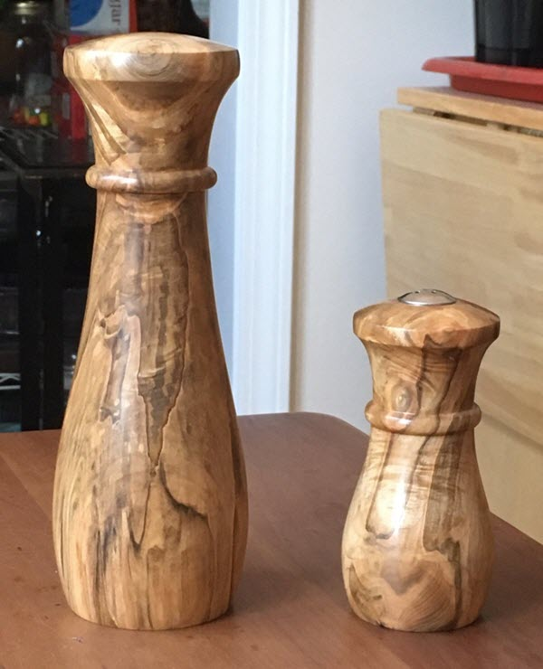 Ambrosia Maple Peppermill and Salt Shaker