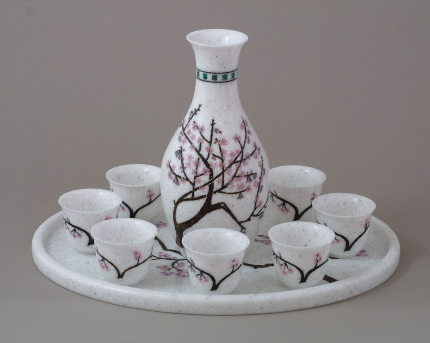 Corian Sake set with inlay