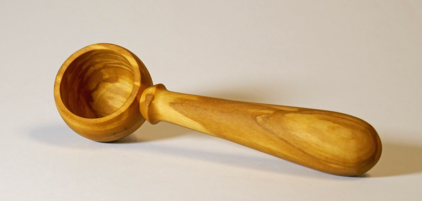 Olive wood coffee scoop