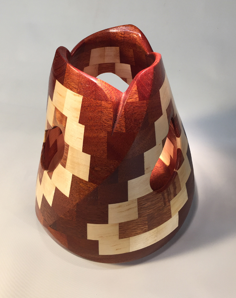 Twisted, Tapered, Segmented Vase