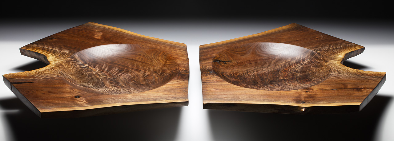 Walnut crotch book matched pair