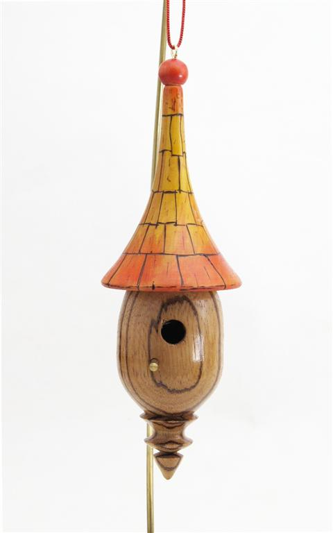Whimsical birdhouse ornament