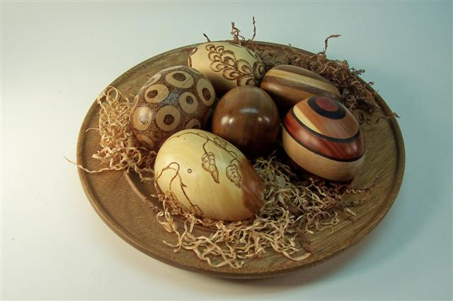 woodturners easter eggs